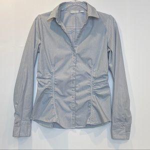 New York &  Company button down v neck work shirt